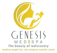 Beauty logo for a med and spa company. The beauty of rediscovery.