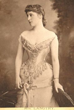 """Lillie Langtry (October 13, 1853 – February 12, 1929), spelled Lily Langtry in the U.S., born Emilie Charlotte Le Breton, achieved overnight celebrity status when in May 1877 Lady Sebright invited her to an """"an evening at home"""", attended by some of the famous artists of the day. Langtry became an American citizen in 1897. Judge Roy Bean, a famous American frontier admirer, a man with a lifelong obsession with her beauty"""