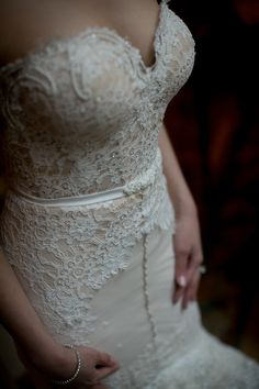 Front. Lace detail. bow. Inbal Dror. Photography: Ethan Yang Photography - ethanyangphotography.com