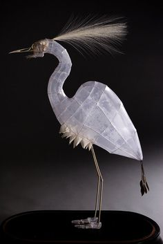 white - heron - bird - sculpture - paper tissues and wire - Polly Verity Wire Art, Wire Sculpture, Sculpture Art, Animal Art, Sculpture, Art, Bird Sculpture, Paper Sculpture, Bird Art