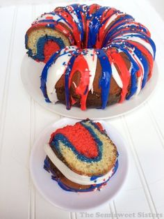 Red, White, and Blue Firecracker Bundt Cake From Scratch