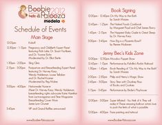 Baby Shower Agenda Bp Program Schedule