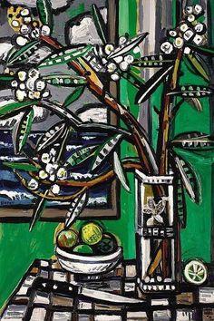 David Bates (American, b. 1952): Oleander - Galveston, 1996.