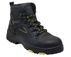 Men  Extra Wide Industrial Work Boots Safety Shoes Steel Toe Breathable Sneakers