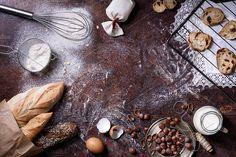 baking ingredients by Iuliia Leonova on @creativemarket