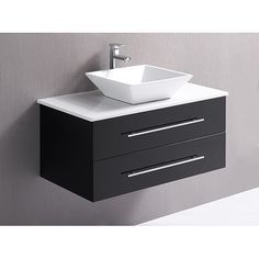 Bathroom Vanity Unit With Basin and Stone Benchtop - 90cm Wall Hung - Della Francesca