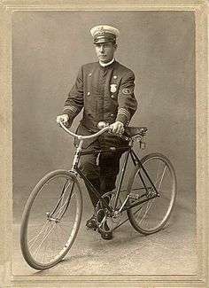 Arnold Kurth bicycle police officer