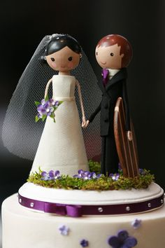 Surfer Wedding Cake topper from Weddings & Engagements collection by Angelique Cook Photography