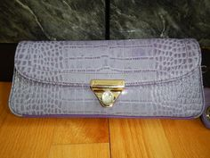 NWOT Authentic Giani Bernini Purple Croc Clutch. Starting at $20 on Tophatter.com!
