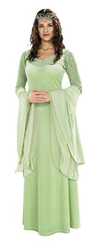Rubie's Costume Lord Of The Rings Deluxe Queen Arwen Dress and Tiara, Green, One Size