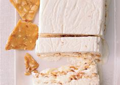 Tangerine Semifreddo with Salted Almond Brittle: Today's new comfort dessert is anything that combines salty and sweet. The Creamsicle-like semifreddo is delicious with the salty, nutty brittle.