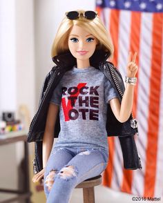 Election Day has arrived, so let your voice be heard! Cast your ballot and text 'Barbie' to RTVOTE to join our @rockthevote community! Visit RockTheVote.com to learn more.  #RockTheVote #barbie #barbiestyle