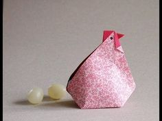 Origami Hen video Instructions -Gallina en origami - YouTube