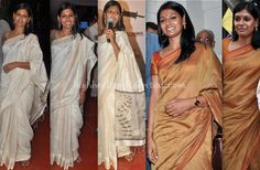 Love how elegantly she carries simple cotton sarees