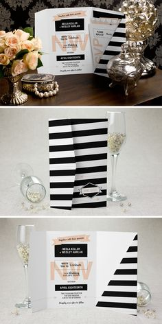 Celebrate in Style with these Modern Invites. For more Savings: http://thebridaldetective.com/fabulous-finds-with-magnetstreet-holiday-savings/