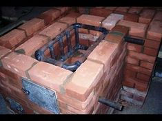 Теплообменник / Simple and inexpensive homemade heat exchanger built into the furnace of brick Saunas, Bbq Firebox, Eco Deco, Heating A Greenhouse, Tyni House, Rocket Mass Heater, Underfloor Heating Systems, Stove Heater, Diy Concrete Planters
