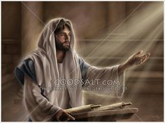Jesus teaching the people the scriptures in the Temple. Jeus spent much of His time in this manner. Jesus Loves Us, God Loves Me, Bible Pictures, Jesus Pictures, Jesus Art, Jesus Christ, Savior, Jesus Teachings, King Jesus
