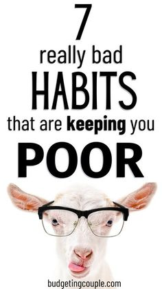 If you can keep your income of your expenses, you shouldn't be poor. Read this article to uncover your bad habits that are keeping you poor and in debt. It's time to live more frugal and save money fast (even as a financial beginner)! Budgeting Couple | Budgeting Couple Blog | BudgetingCouple.com Save Money Live Better, Financial Literacy, Financial Planning, Money Tips, Money Hacks, Budgeting Worksheets, Managing Your Money, Budgeting Money, Debt Payoff