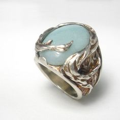 Twisted And Trapped Ring Blue now featured on Fab.