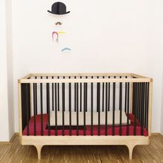 Available in 6 different color options, this playful crib is the perfect fit for any modern nursery!