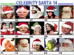 Celeb Santa Christmas Picture Quiz, Christmas Quiz, Christmas Pictures, Gavin Henson, Aston Kutcher, Jason Manford, Noel Edmonds, Christine Bleakley, Marvin Humes