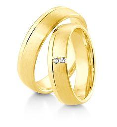 Breuning Trouwringen | Inspiration collectie gouden ringen | 5,5mm briljant 0.04ct verkrijgbaar in 8,14 en 18 karaat | 48041050 / 48041060