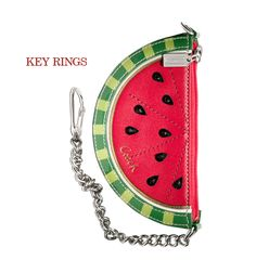 new LEATHER WATERMELON POUCH CHARM  $98.00