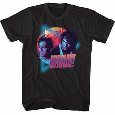 38e2fc240 Details about Wham George Michael Miami Vice Mens T Shirt Pop Music Tour  Album Merch Black Top