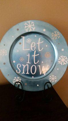 Let it snow! Decorative charger plate