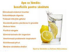 apa cu lamaie: beneficiile pentru sanatate Health Options, Pregnancy Problems, Food Displays, For Your Health, Diet And Nutrition, Metabolism, Good To Know, Health Fitness, Healthy Eating