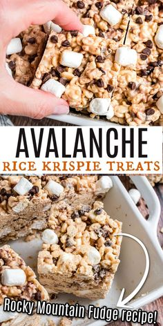 Avalanche Krispie Bars are made with peanut butter and white chocolate. Copycat version of Rocky Mountain Chocolate Factory treats! Peanut Butter Recipes, Fudge Recipes, Sweets Recipes, Baking Recipes, Snack Recipes, Snacks, Copycat Recipes, Easy Recipes, Cookie Recipes