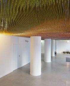 Interesting ceiling installation