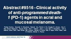 Clinical activity of anti-programmed death-1 (PD-1) agents in acral and mucosal melanoma. | 2016 ASCO Annual Meeting | Abstracts | Meeting Library