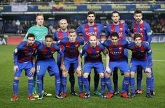 Equipos de fútbol: BARCELONA contra Villarreal 08/01/2017