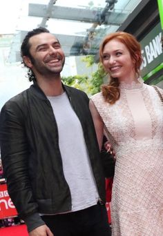 You can tell these two are really close and always have a good time together. Cornwall premiere S2, Sept. 2016