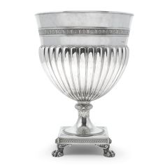 A large Fabergé silver champagne cooler, workmaster Stefan Väkevä (Wäkeva), St Petersburg, 1899-1903.  is impressive cooler is perhaps the largest Fabergé object of its type known to exist. Sotheby's