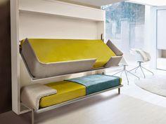 Amazing Space Saving Furniture by Resource Furniture Cama Murphy, Murphy Bunk Beds, Murphy Bed Plans, White Bunk Beds, Modern Bunk Beds, Resource Furniture, Space Saving Beds, Space Saving Furniture, Rooms Furniture