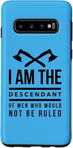 Amazon.com: Galaxy S20 Descendant of Men Not Be Ruled,Viking Case