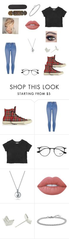 """""""Untitled #112"""" by jvs2105 ❤ liked on Polyvore featuring Converse, River Island, Ray-Ban, Bling Jewelry, Lime Crime, Essentia By Love Lily Rose and Thomas Sabo"""