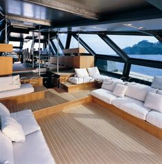 Stunning yachts interior | 518-3884: Wally yacht interior - Kos Picture Source... Nice views!