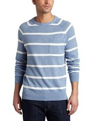 French Connection Men's Isopach Linen Stripe Sweater
