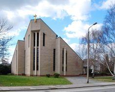 Church St Martin (1980-84) in Leipzig, Germany, by Manfred Fasolt