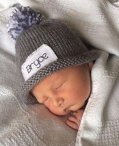 PERSONALIZED Football Baby Boy Hat Monogrammed Name Beanie Cap Monogram Newborn