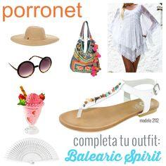095d7dd6 Outfit Balear para este verano con las sandalias planas de piel con  piedrecitas de colores by