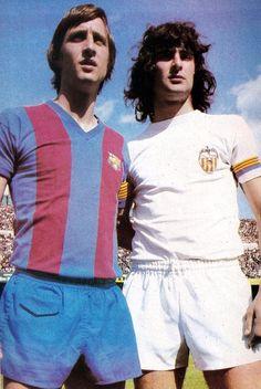 Johan Cruyff & Mario Kempes 1977