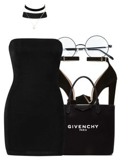 """All Black Beauty ♣"" by trinsowavy ❤ liked on Polyvore featuring Prada, Givenchy and Boohoo"
