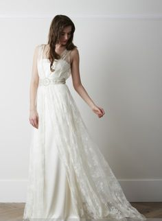 Charlie Brear Voulaire Overdress + Sera Sash - Perfect Day Bridal