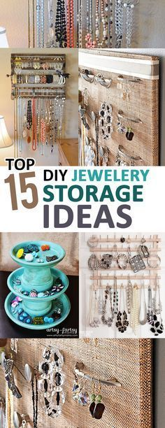 Top 15 DIY Jewelry Storage Ideas - I Thought My Jewelry Box Was . - Top 15 DIY jewelry storage ideas – I thought my jewelry box would fail until I got these amazing - Jewellery Storage, Jewelry Organization, Jewellery Display, Organization Ideas, Closet Organization, Diy Jewelry Organizer, Earring Storage, Necklace Storage, Organizing Earrings