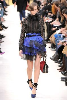 Louis Vuitton Printed Tulle Skirt