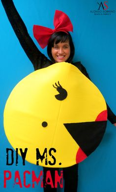 DIY Miss. Pacman- Halloween Costume – Alonso Sobrino
